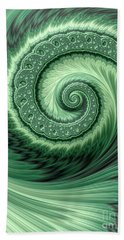 Green Shell Hand Towel
