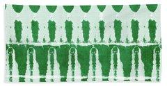 Green Shibori 2- Art By Linda Woods Bath Towel