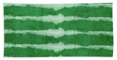 Green Shibori 3- Art By Linda Woods Bath Towel