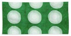 Green Shibori 4- Art By Linda Woods Bath Towel