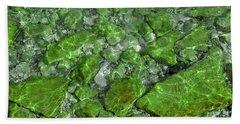 Hand Towel featuring the photograph Green Stone Waters by LeeAnn McLaneGoetz McLaneGoetzStudioLLCcom