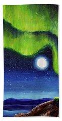 Green Tara Creating The Aurora Borealis Hand Towel