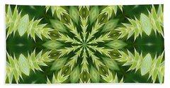 Green Thistle Medallion Bath Towel