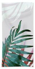 Green Tropical Leaves, Fern Plant Bath Towel