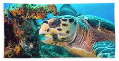 Green Turtle Dining Hand Towel