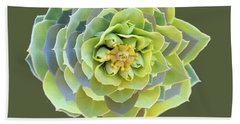 Green Weed Flower Kaliedoscope Bath Towel