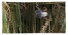 Green Winged Teal  Hand Towel