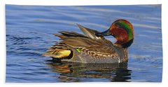 Green-winged Teal Bath Towel