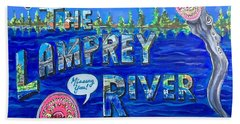 Greetings From The Lamprey River Hand Towel