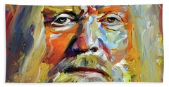 Greg  Allman Tribute Portrait Hand Towel