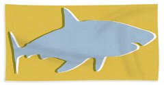 Grey And Yellow Shark Bath Towel