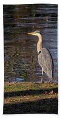 Grey Heron  Bath Towel