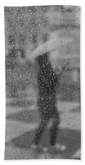 Grey Rain Hand Towel