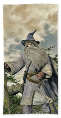 Grey Wizard II Bath Towel