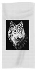 Grey Wolf Hand Towel