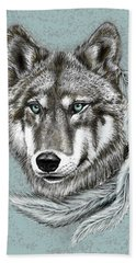 Grey Wolf Bath Towel