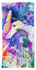 Greyhound Trance Hand Towel by Zaira Dzhaubaeva