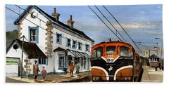 Greystones Railway Station Wicklow Bath Towel