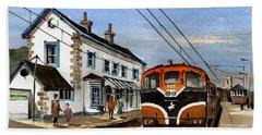 Greystones Railway Station Wicklow Bath Towel