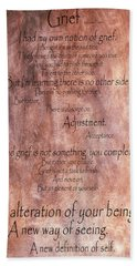 Bath Towel featuring the mixed media Grief 1 by Angelina Vick
