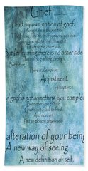 Hand Towel featuring the mixed media Grief 2 by Angelina Vick