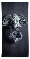 Bath Towel featuring the photograph Griffin Door Knocker by Suzanne Powers