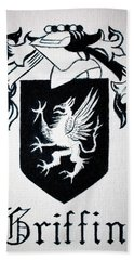 Bath Towel featuring the painting Griffin Family Crest by Stacy C Bottoms