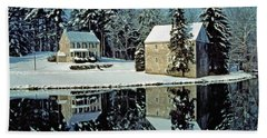 Grings Mill Snow 001 Hand Towel by Scott McAllister