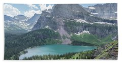 Grinnell Lake From Afar Hand Towel by Alpha Wanderlust