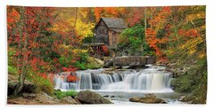 Old Mill In Color  Bath Towel