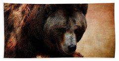 Grizzly Bear Bath Towel by Judy Vincent