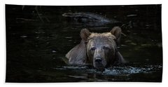 Hand Towel featuring the photograph Grizzly Swimmer by Randy Hall