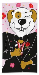 Groom Dog Hand Towel