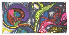 Groovy Series Bath Towel by Chrisann Ellis