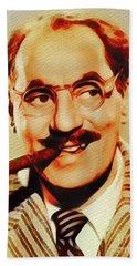 Groucho Marx, Hollywood Legend Bath Towel