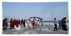 Group Wedding Photo Africa Beach Hand Towel