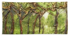 Grove Of Trees Hand Towel by Angela Stout