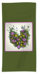 Hand Towel featuring the digital art Growing Heart by Lise Winne