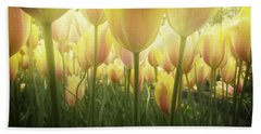 Growing  Tulips  Bath Towel by Anastasy Yarmolovich