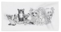 Growing Up Chinese Crested And Powderpuff Hand Towel