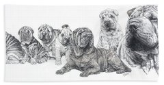 Mister Wrinkles And Family Bath Towel