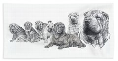 Growing Up Chinese Shar-pei Hand Towel