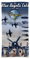 Grumman Blue Angels Cats Bath Towel