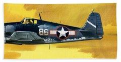 Grumman F6f-3 Hellcat Hand Towel by Wilf Hardy