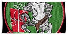 Grumman Merry Christmas Hand Towel