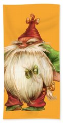 Grumpy Gnome Hand Towel by Andy Catling