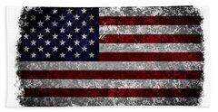 Grunge American Flag Bath Towel