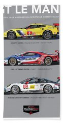 Gt Le Mans Poster Hand Towel