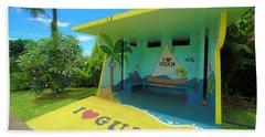 Guam Bus Stop Bath Towel