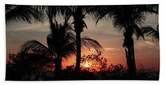 Hand Towel featuring the photograph Guanacaste Sunset by Ellen O'Reilly
